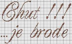 brodeuse - embroiderer - étiquette - chut je brode - point de croix - cross stitch - Blog : http://broderiemimie44.canalblog.com/