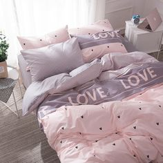 Bed Duvet Cover Bedroom Linen Princess Bedding Set with Hearts Bed Sheets for Girls Duvet Cover Queen Set full Size Bedding Sets Girls Duvet Covers, Girls Bedding Sets, Best Bedding Sets, Bed Duvet Covers, Luxury Bedding Sets, Linen Bedroom, Bedroom Sets, Bedroom Decor, Where To Buy Bedding