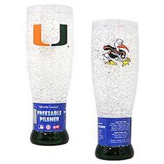 Miami Hurricanes Crystal Pilsner Glass