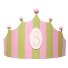 cornice crib monogrammed curved decorative bed crowns pink green princess baby crib painted stripes nursery wall decorating ideas crib canop...