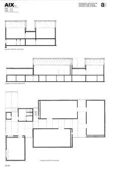 Museum Plan, Art Museum, Architecture Drawings, Architecture Plan, Gigon Guyer, Plan Drawing, Davos, Portfolio Design, Planer