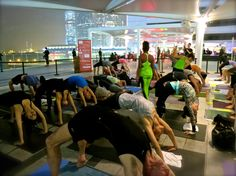 #wheel pose in a full #yoga class with @Giselle Pantazis Pantazis Mari and Faith Hunter