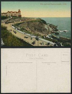Isle OF MAN OLD Postcard Port Jack Road TO Groudle Tram | eBay