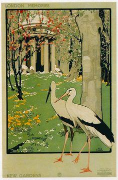 London Underground Poster, Kew Gardens.