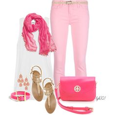 """""""Pink & Gold"""" by lgb321 on Polyvore"""