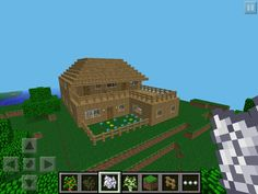 amazing minecraft builds | This house has 3 large bedrooms, a large attic, two balconies, a large ...