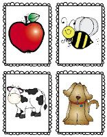 Quarter page alphabet flashcards and picture flashcards, can be used for matching game, I'm laminating and putting on a ring for use in the car