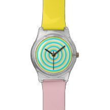 Colourful Watch with Colourful Circular Design My Design, Watches, Accessories, Color, Wristwatches, Colour, Clocks, Colors, Jewelry Accessories