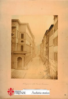 1900: Via Tornabuoni after restyling between 1885 and 1895