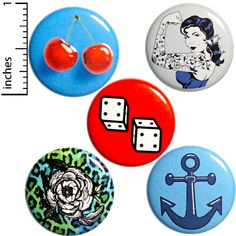 Rockabilly Buttons 5 Pack or Backpack Pins Jacket Lapel Pins Badges Rockabilly Brooches Gift Set 1 Funny Buttons, Cool Buttons, Bag Pins, Jacket Pins, Pin Badges, Pinback Buttons, Lapel Pins, Funny Gifts, Stocking Stuffers