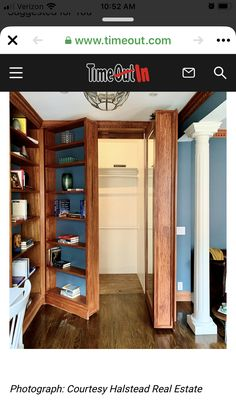 New York Townhouse, New York City Apartment, Small Home Libraries, Waverly Place, Hidden Rooms, Huge Windows, Secret Rooms, Home Inspection, Greenwich Village