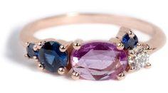Linear Diamond Ring Personalizations