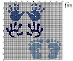 Baby hands and footprints