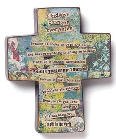Look what I found on #zulily! 'Kindness Changes Everything' Cross #zulilyfinds