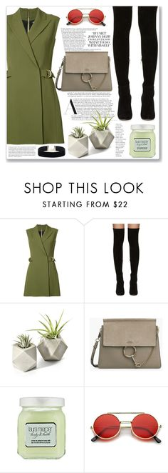 """Military Green.."" by creating-outfits ❤ liked on Polyvore featuring Balmain, Jimmy Choo, By Terry and Laura Mercier"