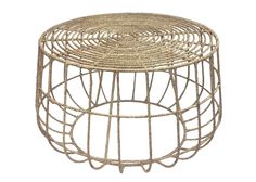 Get roped in with this rustically-inspired table, featuring jute wrapped around a wire frame. Go for a beachy vibe for your home office or bedroom.
