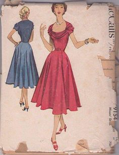 Cheap Carpet Runners For Stairs Vintage Dress Patterns, Vintage Dresses, Vintage Outfits, Vintage Fashion, 40s Fashion, Vintage Style, Patron Vintage, Mccalls Sewing Patterns, Vogue Patterns
