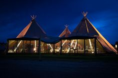 A beautiful set-up in the English countryside, perfect for an outdoors Tipi Wedding. Choose our Three Giant Tipis Set-up to accommodate 160 seated guests or up to 210 standing people. Perfect for big parties and events! Tipi Wedding, Wedding Hire, City Events, Big Party, English Countryside, Outdoor Gear, Gazebo, Tent, Outdoor Structures