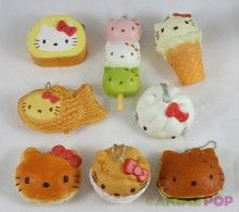 Hello Kitty Dessert Keychains