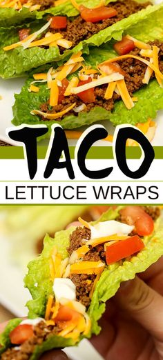 Low Carb TACO LETTUCE WRAPS are such a super simple and so tasty meal to make. Healthy eating is easy with recipes like this one! You can have this delicious dinner on the table in minutes with this yummy taco variation Healthy Recipes Taco Lettuce Wraps Taco Lettuce Wraps, Lettuce Wrap Recipes, Taco Wraps, Healthy Lettuce Wraps, Tasty Meal, Clean Eating Snacks, Healthy Eating, Healthy Diabetic Meals, Lunch Recipes