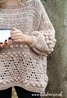 Lululoves: Diamonds and Bobbles Crochet Jumper