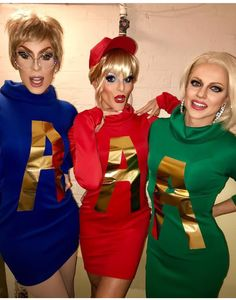 The AAA Girls (Alaska Thunderfuck, Willam Belli and Courtney Act) as Alvin & The Chipmunks!