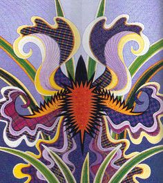 Jane Sassaman is known for her flamboyant-but-true plant forms and gorgeous compositions. The look of her quilts is unique; the craftsmanship is exquisite.