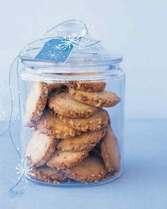 Package some of these buttery, nut-edged cookies in a pretty jar as a gift.