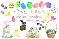Watercolor Clip Art - Easter ~ Illustrations on Creative Market