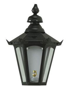 Flush Wall Lantern Victorian Style Black Medium