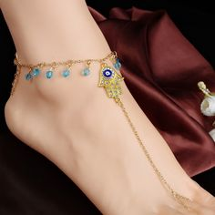 Fine or Fashion: Fashion Item Type: Anklets Gender: Women Style: Trendy Material: Crystal Length: 22cm+5cm Metals Type: Zinc Alloy Shape\pattern: Figure Model Number: xr11 Brand Name: ls summer jewelr