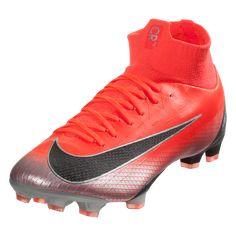 promo code 51f67 d44fe Nike Mercurial Superfly VI Pro CR7 FG Soccer Cleat - Bright  Crimson Black Chrome Dark Grey