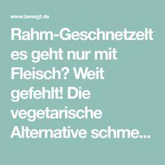 Rahm-Geschnetzeltes geht nur mit Fleisch? Weit gefehlt! Die vegetarische Alternative schmeckt mindestens so gut und ist schnell zubereitet!
