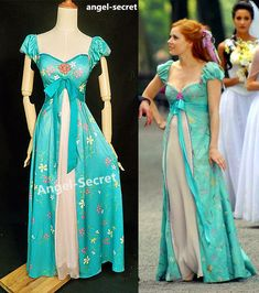 Disney Cosplay - women curtain dress Giselle cosplay from Enchanted TEAL PRINCESS in Clothing, Shoes ` Accessories, Women's Clothing, Dresses Disney Princess Dresses, Princess Costumes, Disney Dresses, Disney Outfits, Disney Princesses, Disney Cosplay, Disney Costumes, Teen Costumes, Woman Costumes