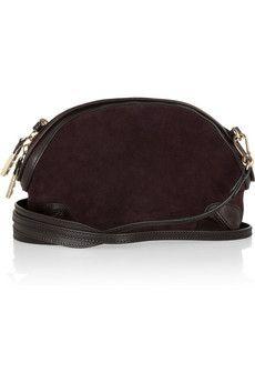 Burberry Tansy Suede Shoulder Bag