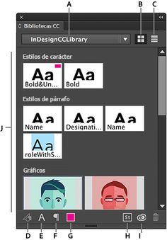 Panel Bibliotecas CC I Creative Cloud