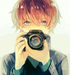 if i ever have a boyfriend, he'll like photography and girls with glasses and be all that kawaii shit girls dream about in a guy<<<--- yep the man that exists In our dreams.and anime. Manga Boy, Manga Anime, Boys Anime, Art Manga, Hot Anime Boy, Cute Anime Guys, I Love Anime, Brown Hair Anime Boy, Cosplay Anime