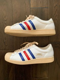 b965bd6b9eb79 Adidas Wilhelm Bungert White Trainers Sneakers Men s 11.5 Limited Edition  Rare