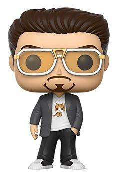 f0bbf36bdc19 From Spider-Man Homecoming Tony Stark as a stylized POP vinyl from Funko!  Figure