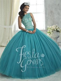 Beaded illusion neckline, fully encrusted on bodice and waist. Gathered tulle ball gown skirt. Lace-up back.  #azaria #azariabridal #prom #quinceañera #fashion #love #lightgreen #likeforlike #followforfollow #heartforheart #ideal #promgoals #celebration #event #party #ballgown #princess #queen #dazzling #wow #achieve #sweetsixteen #eighteen #debut #perfect #fairytale