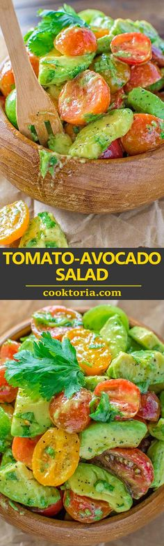 Healthy and so flavorful, this Tomato Avocado Salad makes a great addition to your dinner or lunch. This is one of the most loved recipes in my family! #avocado #tomatosalad #avocadosalad