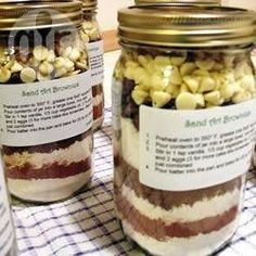 Brownie Mix in a Jar @ allrecipes.co.uk