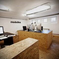 First premises of mode:lina architekci studio called OSB Office.