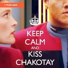 Keep Calm and kiss Chakotay Great Love Stories, Love Story, Robert Beltran, Star Trek Gifts, Captain Janeway, Cast Images, Star Trek Captains, I Know You Know, Starship Enterprise