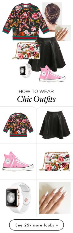 """""""Gucci chic sporty"""" by philocalyz on Polyvore featuring Gucci, Pilot, Converse and gucci"""