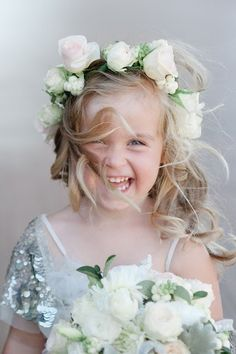 18 boho flower girls who totally nailed their wedding outfits! Flower Girls, Flower Girl Halo, Boho Flower Girl, Flower Girl Dresses, Flower Crown, Wedding With Kids, Wedding Wishes, Wedding Pics, Wedding Hair