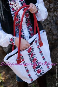 """Сумка """"Красные розы"""" - ярко-красный,сумка,сумка женская,сумка ручной работы"""