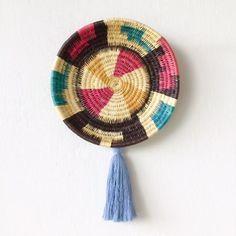 Wall Basket | Chunga Round - Eggshell $85 Copper and Cross