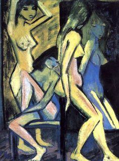 Otto Müller - Four Nudes