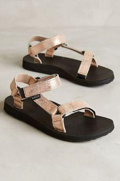 GOLD TEVAS WHAT Teva Original Universal Metallic Sandals - anthropologie.com